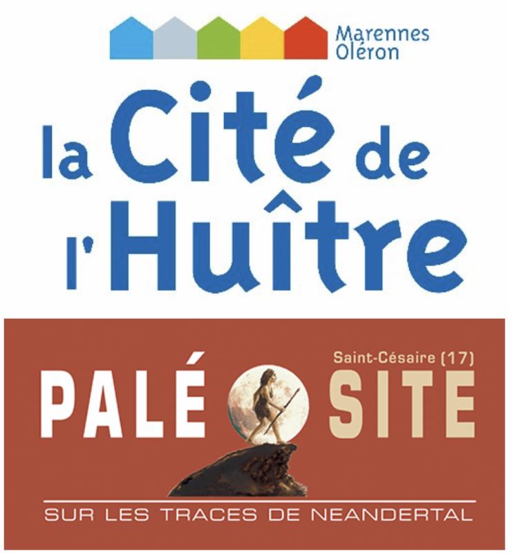 Logos La Cité de l'huître et Paléosite