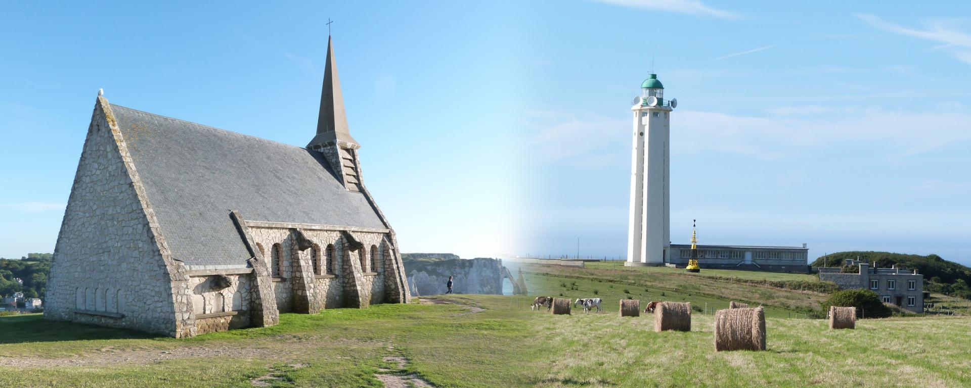 Phare d'Antifer et Chapelle d'Étretat - La Poterie-Cap-d'Antifer [76]