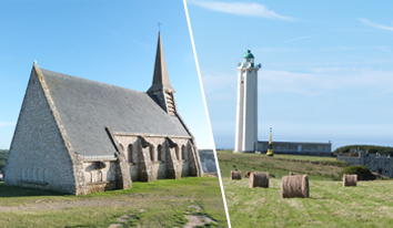 Phare d'Antifer et chapelle d'Étretat
