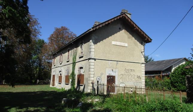Site de l'ancienne gare à La Sauve-Majeure